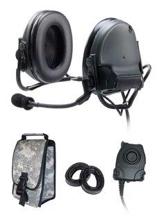 3M 88060-B PELTOR™ ComTac™ III ACH Communication Headset, 88060-B 1 EA/Case