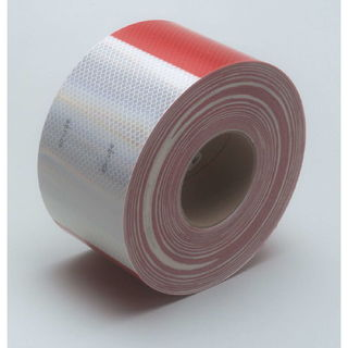 3M 983-32 ES Diamond Grade™ Conspicuity Marking Roll 983-32 ES Red/White, 4 in x 150 ft