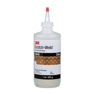 3M CA40 3M Scotch-Weld Instant Adhesive CA40 Clear, 1 Pound, 1 per case