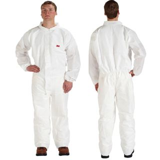 Disposable Protective Coverall Safety Work Wear 4510CS-BLK-L 25 EA/Case