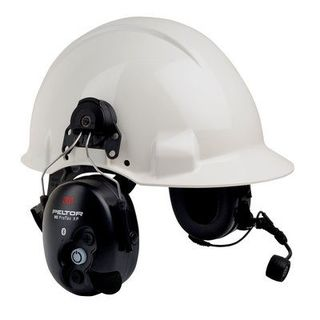 Peltor™ WS™ ProTac™ XP Communication Headset featuring Bluetooth™ technology -Hard Hat Attached