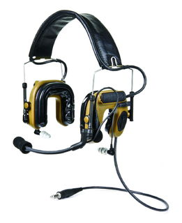 3M MT16H044FB-47 CY PELTOR™ COMTAC™ IV Hybrid Communication Headset, Single Comm, Flexi