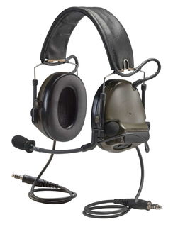 """3M MT17H682FB-19GN COMTAC ACH COMM HEADSETDUAL COMM 20"""" GREEN"""