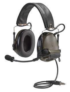 3M MT17H682FB-49 GN PELTOR™ COMTAC™ ACH Communication Headset, Dual COMM, Single Downlea