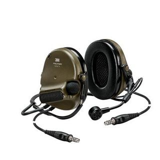 PELTOR™ ComTac™ V headset, neckband, dual lead, standard dynamic mic, NATO wiring, Coyote, MT20H682BB-19 CY