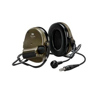 3M MT20H682BB-47 GN PELTOR™ ComTac™ V headset, neckband, single lead, standard dynamic m