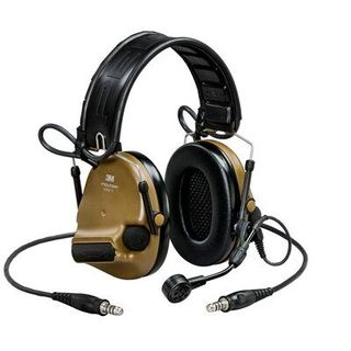 3M MT20H682FB-19 CY PELTOR™ ComTac™ V headset, foldable, dual lead, standard dynamic mic