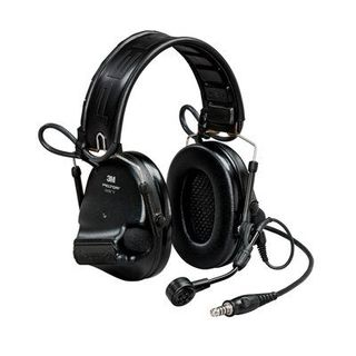 PELTOR™ SwatTac™ V headset, foldable, single lead, standard dynamic mic, NATO wiring, Black, MT20H682FB-47 SV