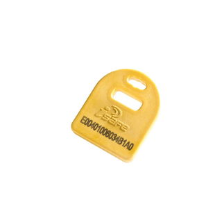 Hanging Mount HF RFID Tag 9505842, Yellow, 25 Pack, 1 EA/Case