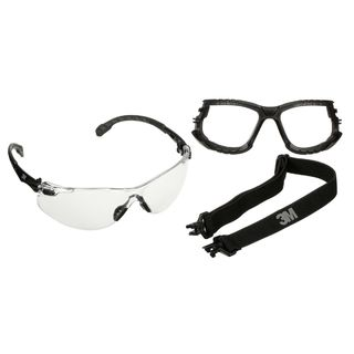 Solus™ 1000 Series, S1501SGAF-KT, Blk Temples, Scotchgard™ Anti-Fog Coating, Clear AF-AS lens, Foam/Strap, 20ea/cs