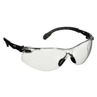 Solus™ 1000 Series, S1501SGAF, Black Temples, Scotchgard™ Anti-Fog Coating, Clear AF-AS lens, 20ea/cs