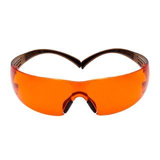 SecureFit™ SF406SGAF-BLA, Black/Brown, Orange Scotchgard™ Anti-fog lens, 20ea/cs