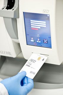 ALCOR SCIENTIFIC, INC. 112-01000 PLASTIC CARD 1000 TESTS.