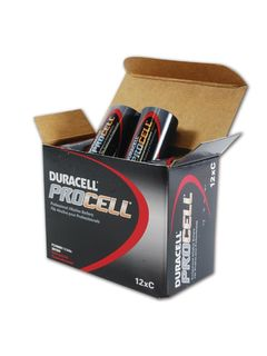 ALLIANCE DURPC1400 Duracell PROCELL Professional Alkaline Batteries - Size C