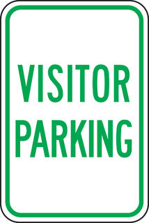 "Accuform FRP218RA Designated Parking Sign, Visitor Parking (Grn/Wht), 18"" x 12"", Engineer-"