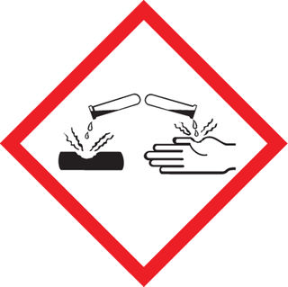"""Accuform LZH624PS2 GHS Pictogram Labels, Corrosion Pictogram, 4"""" x 4"""", Ahesive Coated Pape"""