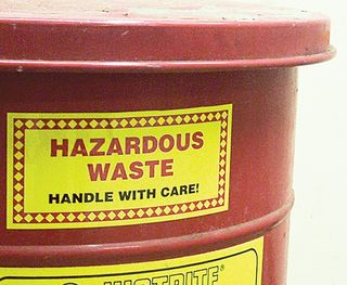 Accuform MHZWCAPSL (CA) Hazardous Waste Label, (CALIFORNIA) HAZARDOUS WASTE STATE AND FEDERAL LAW PR