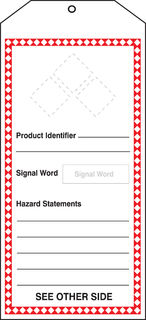 "Accuform THS401PTM GHS Jumbo Tags, GHS Blanks with Label Set, 8 1/2"" x 3 7/8"", PF-Cardstoc"