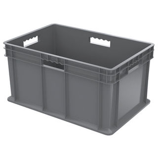 Akro-Mils 37682GREY CONTAINER SW GRY ALL SOLID 23-3/4X15-3/4