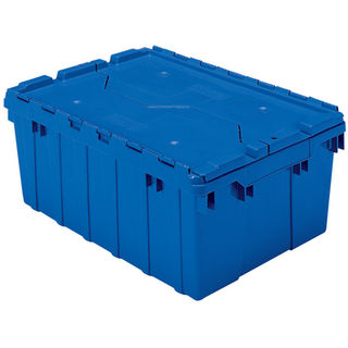 Akro-Mils 39085BLUE CONTAINER ATTACHED LID 8.5 GAL BLUE
