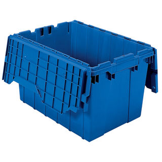 Akro-Mils 39120BLUE CONTAINER ATTACHED LID 12 GAL BLUE