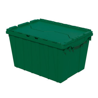 Akro-Mils 39120GRN CONTAINER ATTACHED LID 12 GAL GREEN