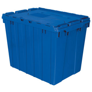 Akro-Mils 39170BLUE CONTAINER ATTACHED LID 17 GAL BLUE