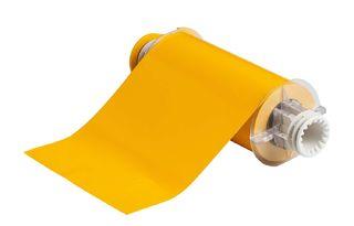 BRADY 132395 BBP85 Series Label: Vinyl, Yellow, 7 in H x 10 in W