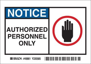 BRADY 49861 Safety Sign