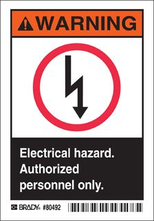 BRADY 80492 (M) ELECTRICAL HAZARD