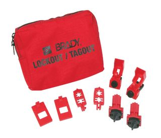 BRADY 99300 120/277V Breaker Lockout Pouch Kit