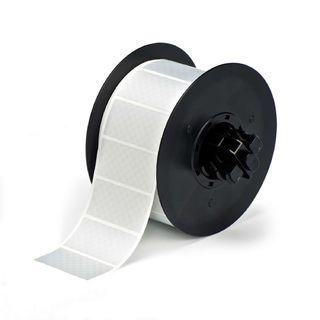 BRADY B30-17-438 B30 Series Label: Metalized Polyester, Silver, 2 in H x 1 in W