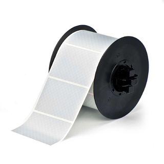 BRADY B30-222-438 B30 Series Label: Metalized Polyester, Silver, 2 in H x 3 in W
