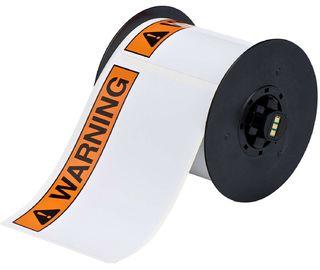 BRADY B30-241-595-ANSIWA B30 Series Label: Vinyl, ANSI WARNING, Black/Orange on White, 2.25 in H x 3
