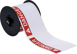 BRADY B30-25-595-ANSIDA B30 Series Label: Vinyl, ANSI DANGER, Red on White, 4 in H x 6 in W