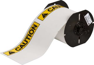 BRADY B30-25-855-ANSICA B30 Series ToughWash Label: Polyester, ANSI CAUTION, Black/Yellow on White,