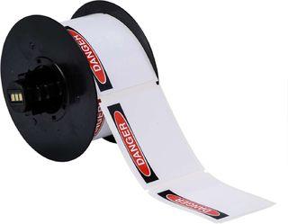 BRADY B30-25-855-OSHADA B30 Series Label: Polyester, OSHA DANGER, Black/Red on White, 4 in H x 6.25