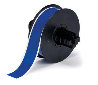 BRADY B30C-1125-569-BL B30 Series  Label: Polyester, Blue, 1.125 in W x 100 ft L