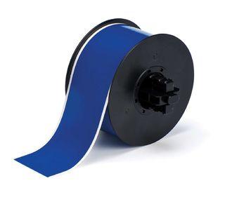 BRADY B30C-2250-569-BL B30 Series  Label: Polyester, Blue, 2.25 in W x 100 ft L