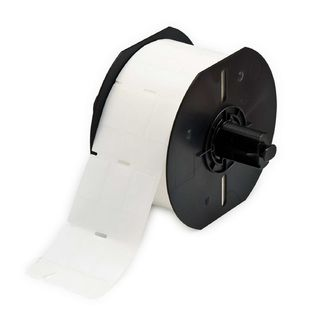 BRADY B33-133-461 B33 Series Clear with White Printable Zone Polyester Labels, B461, CLEAR/WHITE, 0.