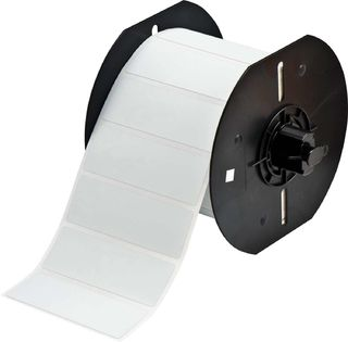 BRADY B33-18-486 B33 Series Metallized Polyester with Permanent Rubber-based Adhesive Labels