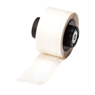 BRADY PTL-61-483 BMP71 TLS 2200 Series ToughBond Label: Polyester, White, 2 in H x 0.5 in W