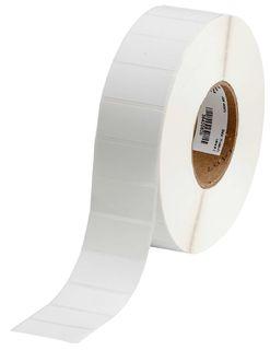 BRADY THT-17-402-5.2 Label: Paper, White, 1 in H x 2 in W