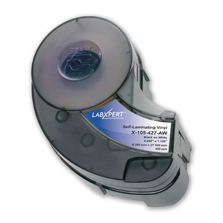 IDXPERT LABXPERT Series Label: Vinyl, Black on White/Translucent, 0.25 in H x 1.1 in W