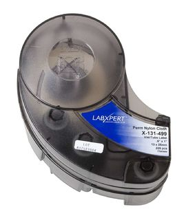 IDXPERT LABXPERT Series FreezerBondz Label: Polyester, Black on White, 0.375 in H x 1.25 in W