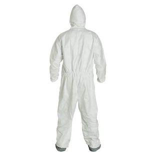 DuPont TY122SWH4X0025NF COVERALL TYVEK 400 W/HOOD/BOOTS WHITE 4X
