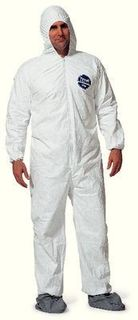 DuPont TY122SWHMD002500 COVERALL TYVK HOOD/BOOT M CS25