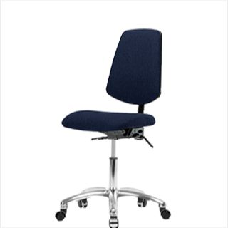 EComSeating FDHCH-MB-CR-T1-A0-CC-F45 Fabric Chair Chrome with Medium Back - FDHCH-CR-T1-A0-CC-F45