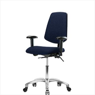 EComSeating FDHCH-MB-CR-T1-A1-CC-F45 Fabric Chair Chrome with Medium Back - FDHCH-CR-T1-A1-CC-F45
