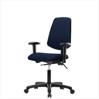 EComSeating FDHCH-MB-RG-T1-A1-RC-F45 Fabric Chair with Medium Back - FDHCH-RG-T1-A1-RC-F45
